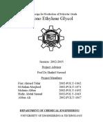 production of Mono Ethylene Glycol