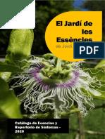 El Jardí de les esséncies - Catalogo
