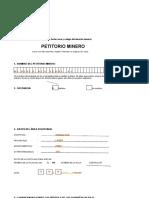 Formulario de Petitorio Minero 01