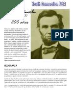 Abraham Lincoln. 200 años (1809-1865) BIOGRAFIA