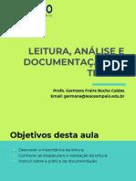 Aula 4_ Leitura Análise e Documentação de Textos