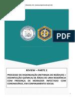 REVIEW PROCESSO DE HIGIENIZACAO  &  CASA &  PRESENÇA DE INDIVIDUO COM CORONA VÍRUS CRQ MG CRF