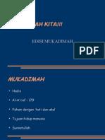 ISK (EDISI MUKADIMAH)