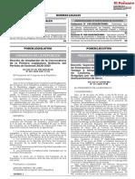 Decreto suPremo n° 111-2020-Pcm
