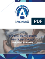 RCP ADULTO-PEDIATRICO, USO DE DEA Y OVACE 21 horas