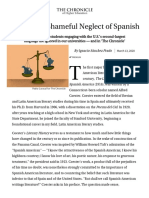Ignacio Sánchez Prado - Academe's Shameful Neglect of Spanish - The Chronicle of Higher Education