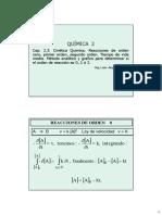 Clase Cap 2.3 Cinetica Q - Ordenes 0, 1 y 2