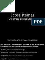 3- Ecossistemas dinâmica de populações