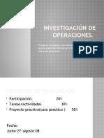 Clase 1 Investigación de Operaciones