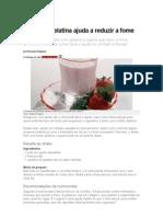 Shake de Gelatina Ajuda a Reduzir a Fome