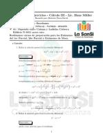 Cuadernillo de ejercicios - Cálculo III