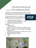 COMO DETECTAR LIPIDOS EN LOS ALIMENTOS USANDO ALCOHOL.docx