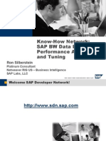 SAP BW Data Load Performance Analysis and Tuning