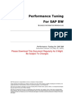 SAP BW Performance Tuning