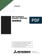 Mitsubishi S6B3 Operation & Maintenance Manual