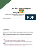 Estatuto de Autonomía para Aragón