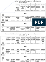 Time table  22nd June to 30th June 20-21  Mechanical Engg BTech Mech Sem. V VII MBA Tech Sem. V