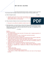 CREDIT RISK ASSESSMENT 1  MAY 2012 - SOLUTIONS