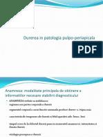 Metode de combatere a durerii în patologia pulpo-periapicală