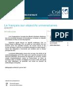 bibliographie-francais-sur-objectifs-universitaires