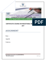PROJECT ON NEGOTIABLE INSTRUMENTS ACT