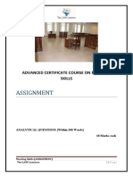 Advanced Mooting Skills Assignment
