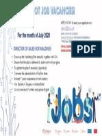 Hot! Job Vacancies (June 2020)