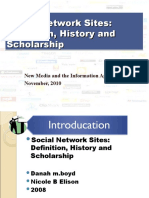 Guy Itzhaki - Social Network Sites
