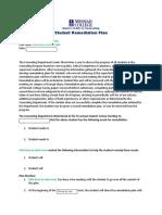 Student Remediation Plan
