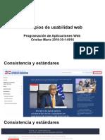 Principios de usabilidad web