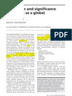 Davidson English as Global English Today 2007