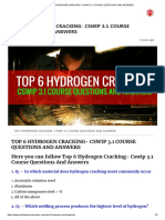 TOP 6 HYDROGEN CRACKING- CSWIP 3.1 COURSE QUESTIONS AND ANSWERS