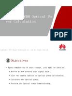 1-OTC107201 OptiX NG WDM Optical Power Calculation ISSUE 1.00