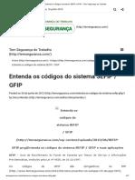 Entenda os Códigos GFIP