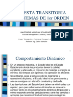 1 RESPUESTA TRANSITORIA DE SISTEMAS DE 1ER ORDEN
