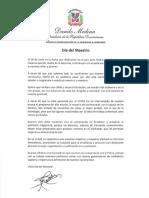 Mensaje del presidente Danilo Medina con motivo del Día del Maestro 2020