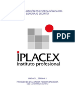 evaluacion psicopedagogica   lenguaje escrito semna 1