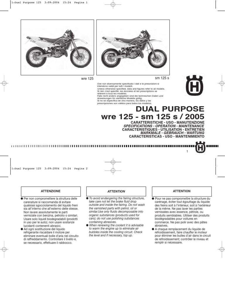 Husqvarna WRE 125 2005 Owners Manual