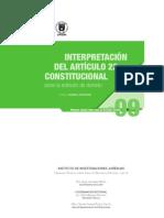 interpretación del Artículo 22 constitucional