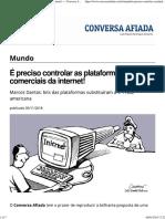 É preciso controlar as plataformas comerciais da internet! — Conversa Afiada
