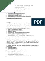 ESPECIFICACIONES TECNICAS   REQUERIMIENTO 17026