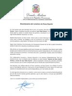 Mensaje del presidente Danilo Medina con motivo del bicentenario del natalicio de Rosa Duarte