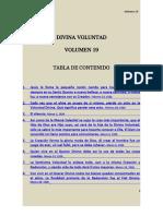 Volumen 19 DIVINA VOLUNTAD