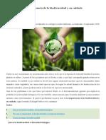 La importancia de la biodiversidad y su cuidado