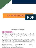 LA INVESTIGACION Y TIPOS DE ESTUDIOS