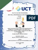 aspectos básicos de la situación problemática respecto a los principios y doctrina de la legislación laboral sobre contratos de obra en la ingeniería civil