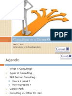 Consulting as a Career Option