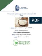 Composición química y propiedades nutricionales del arroz