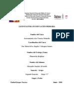 Licenciatura en Educación Primaria Planeacion Diciplinar de Ciencias Naturales