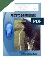 DRENAGEM aula5-PROJETO DE ESTRADAS